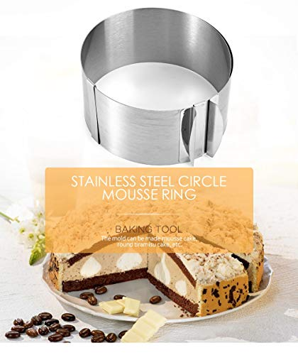 1 pc Stainless Steel 6-12 Inch Retractable Circle Mousse Ring Baking Pastry Set Cake Mould Mold Size Adjustable Bakeware Tool