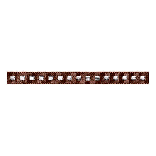 Berisfords Box Stitch: 5m x 7mm: Brown