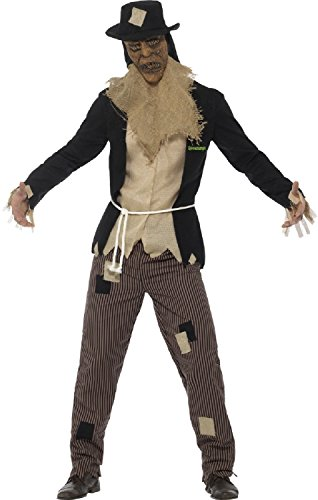 Mens Goosebumps Scarecrow Walk At Midnight Halloween Horror Scary TV Book Film Fancy Dress Costume Outfit (Men: Large)]()