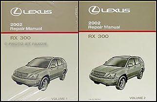 2002 lexus rx 300 repair shop manual 2 volume set original rx300 rh amazon com 2002 lexus rx300 owners manual 2002 Lexus RX300 Under Hood