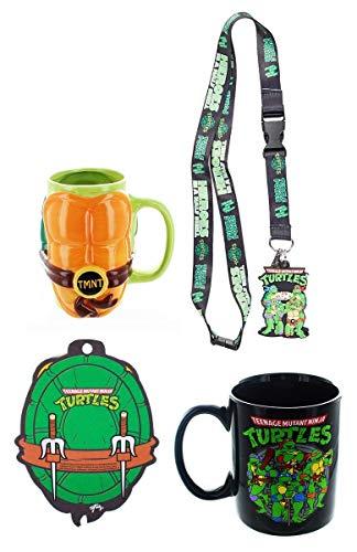 Teenage Mutant Ninja Turtle Collector Bundle: Mugs, Air Freshener, Lanyard]()