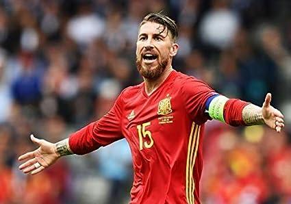Desconocido Sergio Ramos España Nacional Equipo de Fútbol Fútbol Póster 11005 (A3-A4-A5) - A3: Amazon.es: Hogar