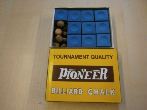 10 Pioneer Tournament Blue Cue tip Chalks Snooker Pool, + 10 x 11mm screw on cue tips