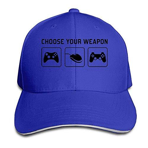 JHDHVRFRr Hat Choose Your Weapon Denim Skull Cap Cowboy Cowgirl Sport Hats for Men Women