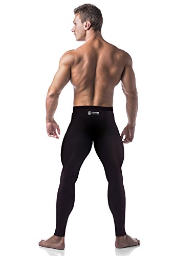 Copper Compression Mens Leggings/Pants/Tights. Guaranteed Highest Copper Content. #1 Copper Infused Active Fit Athletic/Activewear/Athleisure Form Fitting Black Pants.