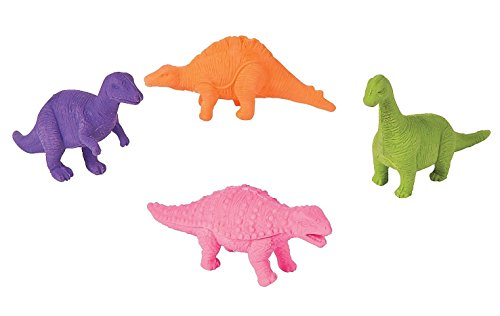 12-Pack of Rubber Dinosaur Erasers (Eraser Dinosaur)