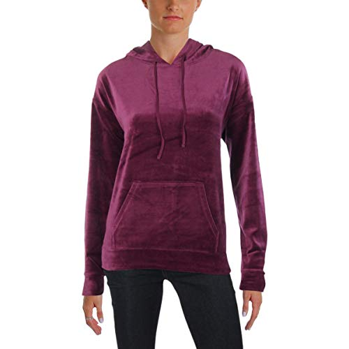 (Juicy Couture Womens Collegiate Velour Graphic Hoodie Purple S)
