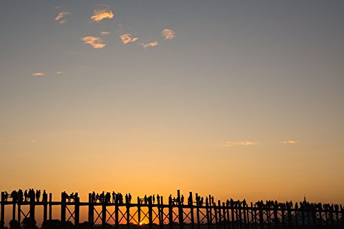 Sunset Silhouette Myanmar Style by