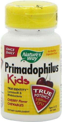 Forma Primadophilus de la naturaleza para niños, cereza, 30 tabletas masticables de Count (paquete de 2)