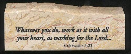 Scripture Stone (Colossians 3:23 - Inspirational/Scripture Stone)