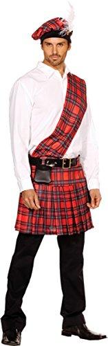 [Dreamgirl Men's Hot Scottie Dress, Red, X-Large] (Sexy Fancy Dress Men)
