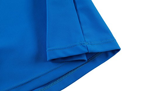 Itsmode Women's Sexy Solid Waistband Swim Skort Bikini Skirt Tankini Bottoms Juniors Swimsuits Blue Small Size by Itsmode (Image #4)