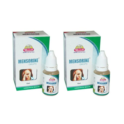 2 x Wheezal - Homeopathy - Mensorine Drops.(Pack of 2) -