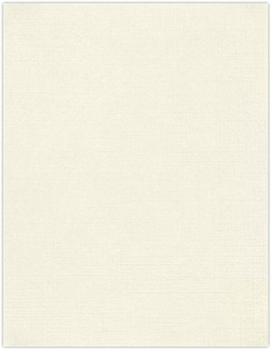 8 1/2 x 11 Cardstock - Natural Linen (50 Qty) | Perfect for Printing, Copying, Crafting, Resumes, Various Business needs and so much more! | 81211-C-59-50 ()