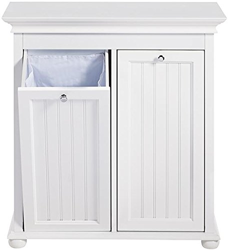 Hampton Bay Double Tilt out Beadboard Bathroom Hamper, 27