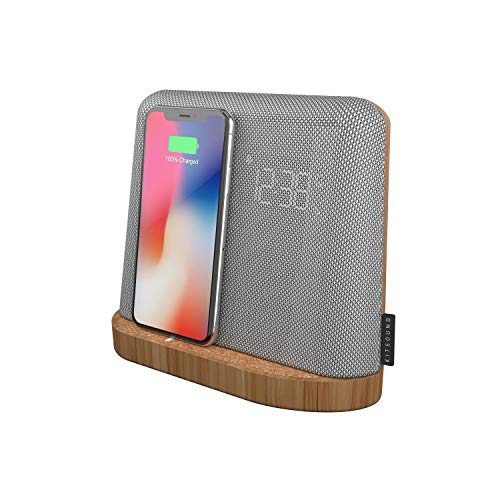 KitSound XDock Qi Charger Wireless Bluetooth Speaker Charging Dock with FM...