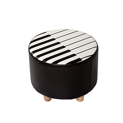 Kinbor Kids Seat Soft Stool Upholstered Chair Piano Style Children Furniture, Ideal Gifts for Kids by Kinbor