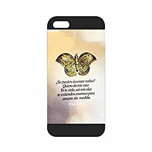 iPhone 5s Case, Frida Kahlo Quotes Famous Artist Pattern Durable [Ultra Thin] Protective Slim Back Case Cover for Iphone 5 5s