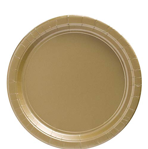 """amscan Big Party Pack Gold Paper Plates 