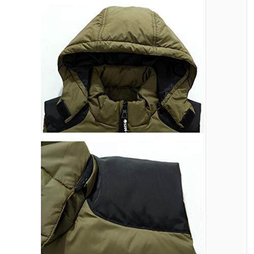 Brown In Con 1 Autunno Green Uomo Piumino color Size Cappuccio Giubbotto Caldo Cotone 5xl Antivento Gilet E Da Inverno q8UqwfZ