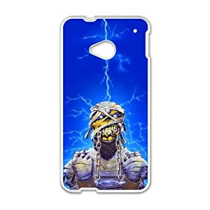 HTC One M7 Cell Phone Case White Iron Maiden wlp