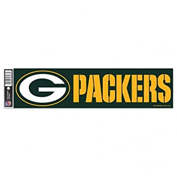 NFL Green Bay Packers Decal Bumper Sticker, Team Color, One Size