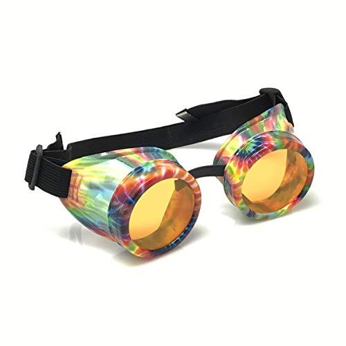 Steampunk Goggles Retro Round Rave Meme Glasses Funny Party Gift idea