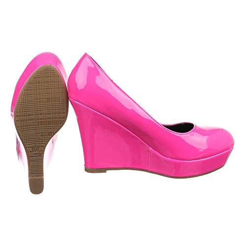 Ital-Design - Plataforma Mujer Pink PA15715