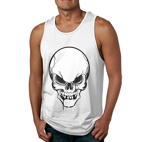 Men's Tank Tops Gym Vests Shirt Skull Skeleton