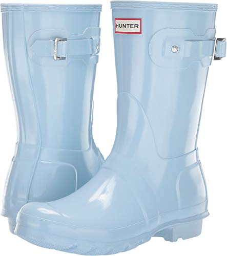Hunter Women's Original Short Gloss Rain Boots Boat Blue 11 M US (Womens Size 11 Hunter Boots)