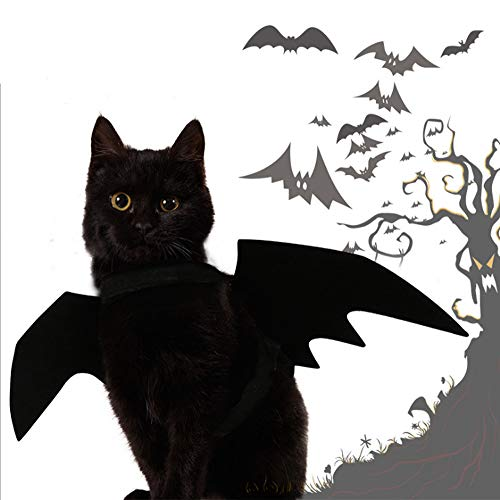 Adual Pet Bat Wings Costume for Cat and Small Dog, Pet Costumes Apparel for Cat Puppy for Halloween Christmas Pet Party ()