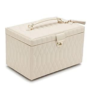 WOLF 329653 Caroline Large Jewelry Case, Ivory