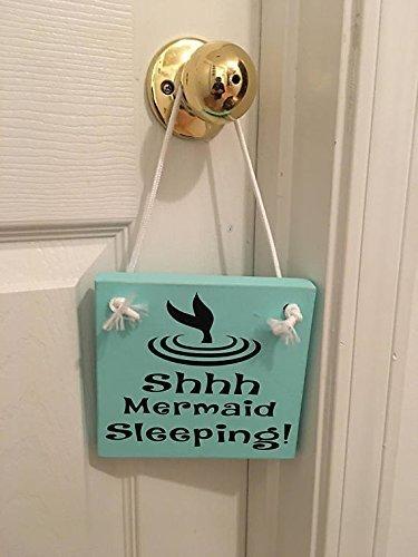 Mermaid Sleeping Wooden Nursery / Girl's Room Door