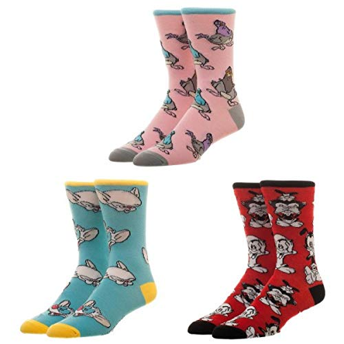 Animaniacs 3 Pairs Of Socks In Box Gift Set (Multi, 10-13)