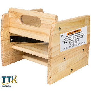 Tabletop king Table & Seating Wood Booster Seat / Chair with Natural Finish (Unassembled)