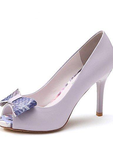 ZQ Zapatos de mujer-Tac¨®n Stiletto-Tacones / Punta Abierta / Confort / Innovador / Gladiador / Estilos-Sandalias / Tacones-Boda / Oficina y , purple-us8 / eu39 / uk6 / cn39 , purple-us8 / eu39 / uk6 white-us6 / eu36 / uk4 / cn36