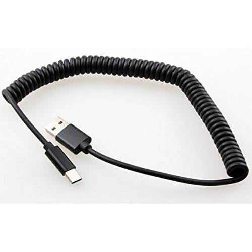 24W Adaptive Fast Car Charger Coiled Type-C Cable Power Quick Samsung S8 -