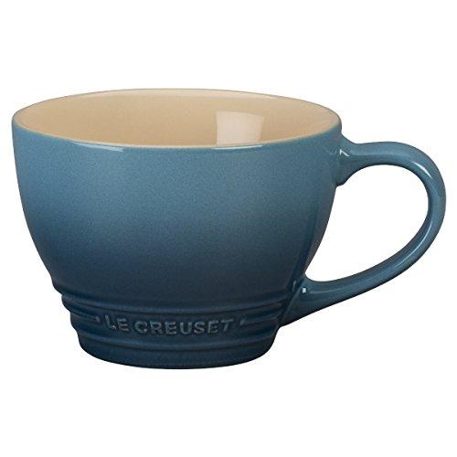 Le Creuset Stoneware Bistro Mug, 14 oz, Marine (Stoneware Mug Bistro)