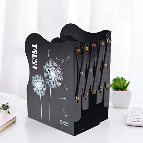LiboboExtension Adjustable Metal Bookends Heavy Duty Book File Stand Rack Holder Desk
