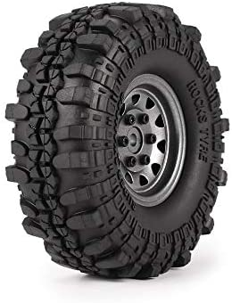 LpfbGezfnwb 4pcs 1.9in Neumáticos de Goma Llanta de Metal ...