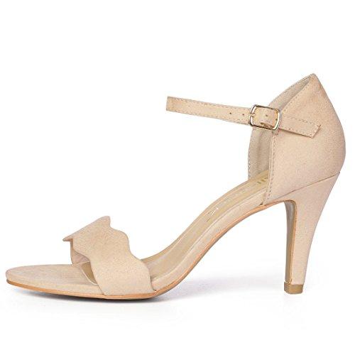 Scalloped US Beige Sandals Stiletto K Women's Allegra 10 M RBwqzgnEx
