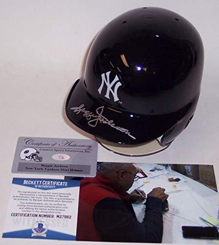 Reggie Jackson Autographed Hand Signed NY Yankees Mini Batting Helmet - BAS Beckett Authentication
