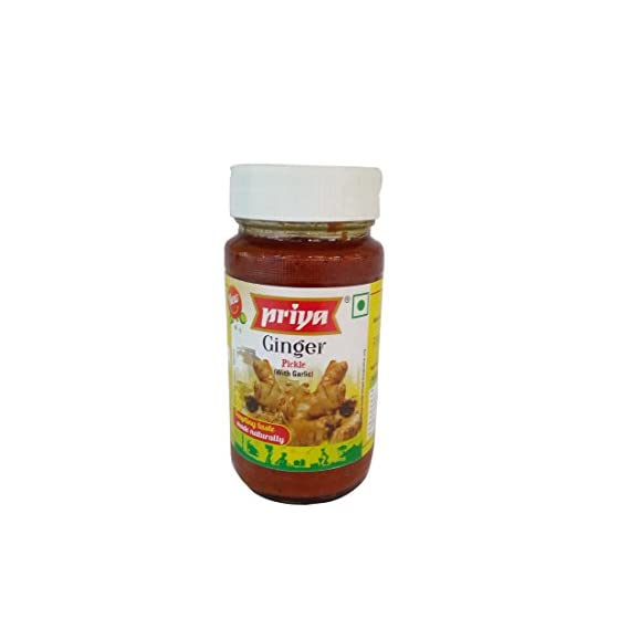 Priya Pickle - Ginger with Garlic, 300g Jar