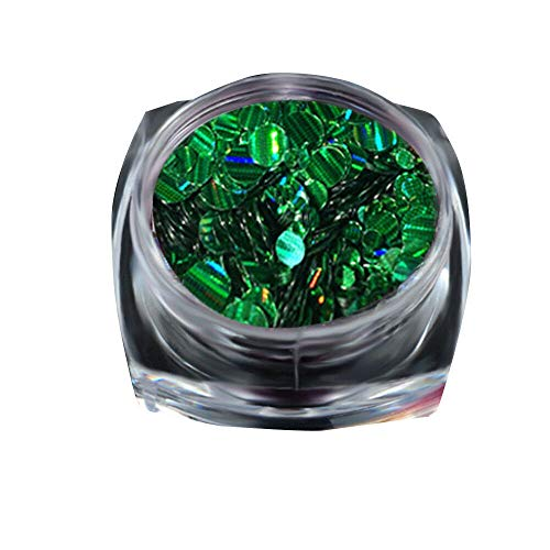 Nail Art Sequins Glitter Dazzling Manicure Nail DIY Powder Glitter Nail Decora (Color - Green 1) -