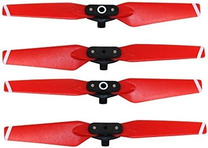2 pares de helices para drone DJI Spark (rojas)