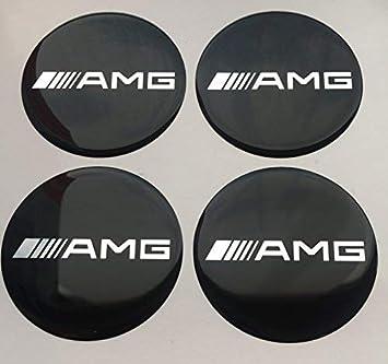 Amg 4 Stück60mm Aufkleber Emblem Für Felgen Nabendeckel