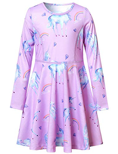 Unicorn Dresses for Girls 7-16 Birthday Party Gift Clothes