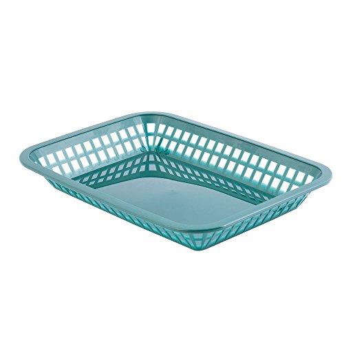 TableCraft 1077FG Forest Green Grande Platter Basket - Dozen - Grande Platter Basket