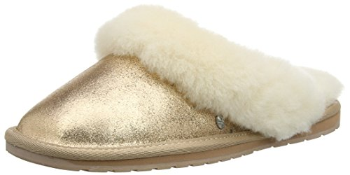 Hunter Women's Jolie Metallic Mules Gold (Rose Gold) PWd4m