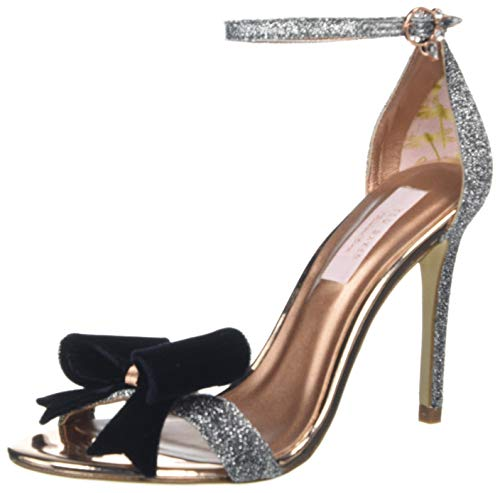 Donna Aperta Scarpe Baker Ted Punta Tacco Col Silver silv Argento Bowdalo EE0qY
